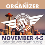 WordCamp Seattle 2017 organizer badge