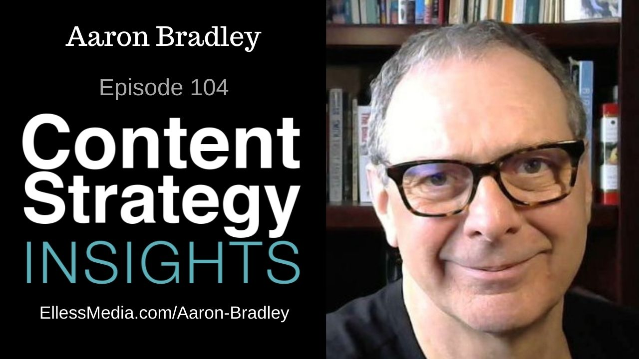 podcast cover art for interview with Aaron Bradley, knowledge graph strategist