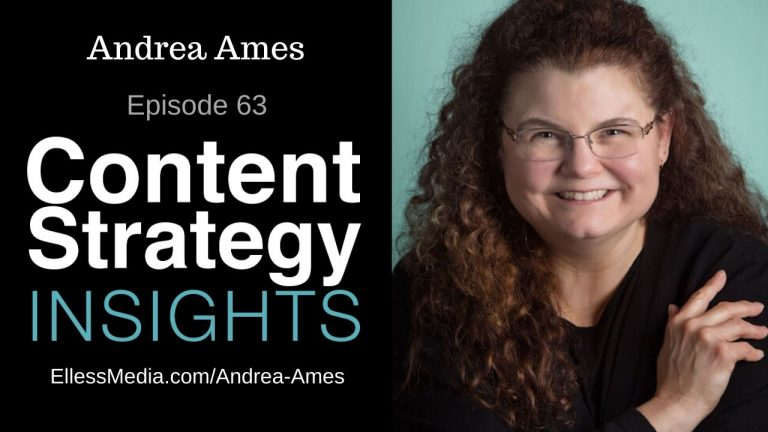 podcast episode cover art for Andrea Ames, content leader