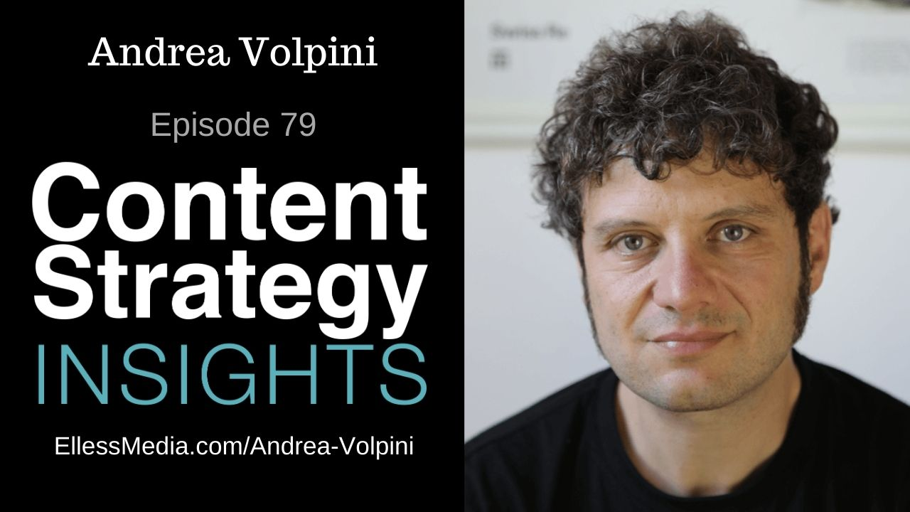 podcast cover art for interview with Andrea Volpini, expert on structuring content for the semantic web
