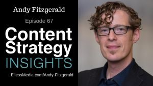 podcast cover art for interview with Andy Fitzgerald, information architect