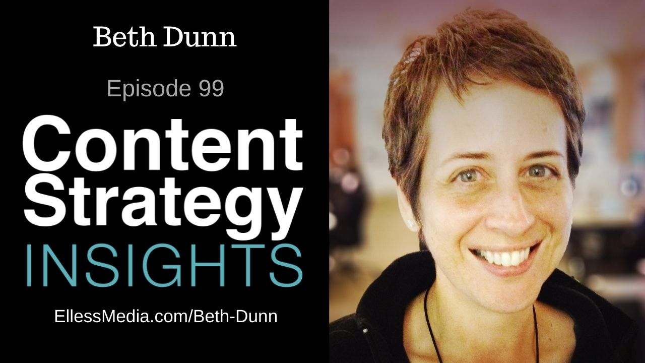 podcast cover art for interview with Beth Dunn, author of Cultivating Content Design