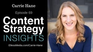 podcast cover art for Carrie Hane: Content Strategy as a System