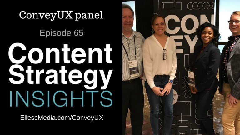photo of panelists on the UX research panel at ConveyUX 2020 in Seattle, WA