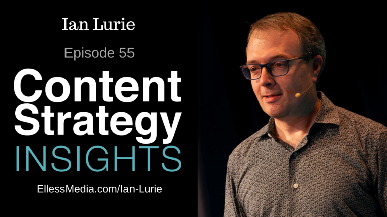 podcast cover art for episode with Ian Lurie, technical SEO expert