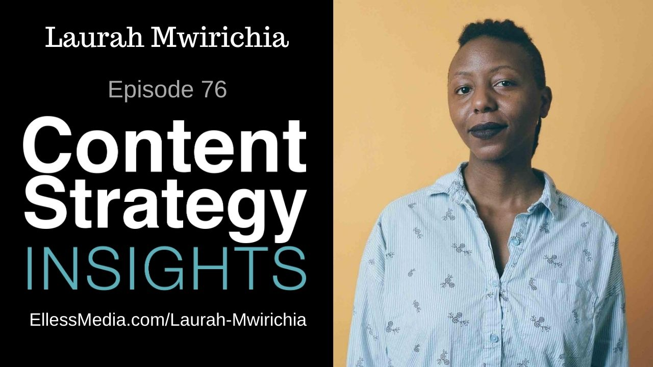 podcast cover art for interview with Laurah Mwirichia, product writing enthusiast