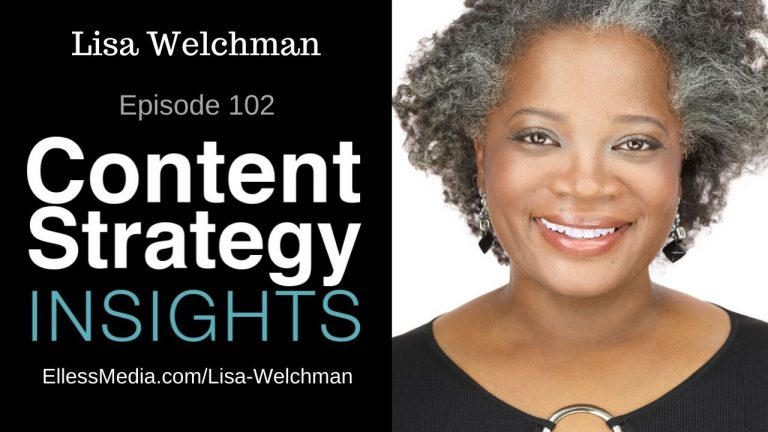 podcast cover art for interview with Lisa Welchman, digital governance expert