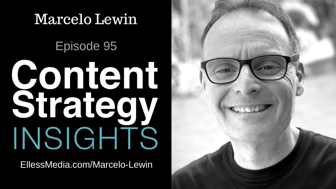 podcast cover art for interview with Marcelo Lewin, expert on content modeling for headless CMS
