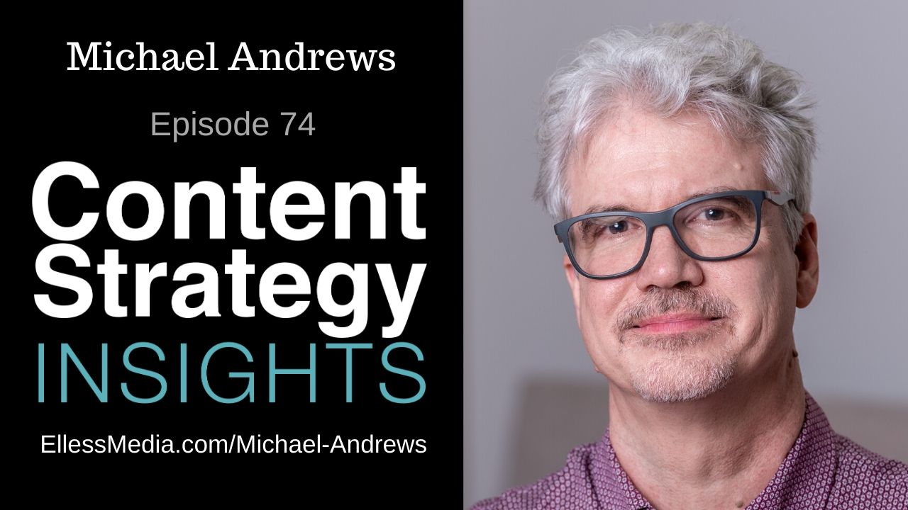podcast cover art for interview with content metadata expert Michael Andrews