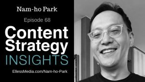 podcast cover art for interview with Nam-ho Park - digital strategist