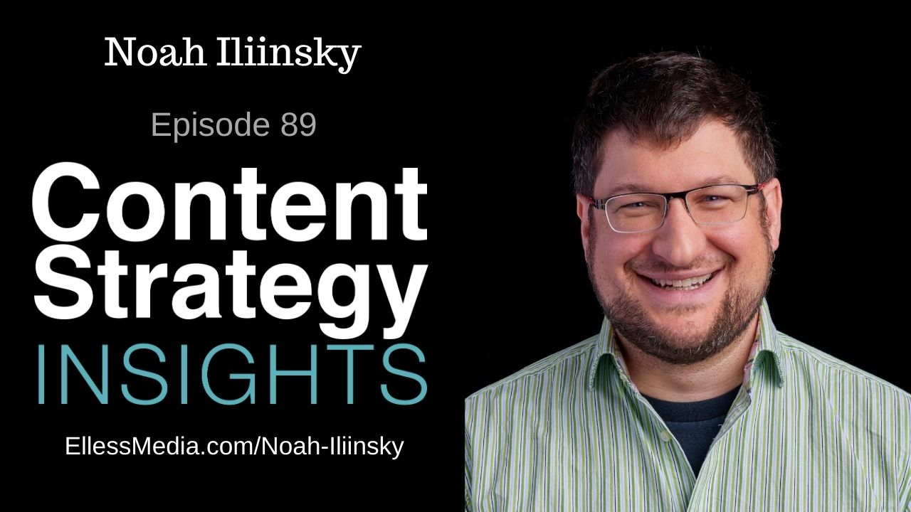 podcast cover art for interview with Noah Iliinsky, data visualization and information design expert
