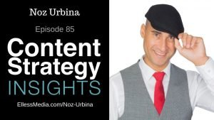 cover art for podcast interview with Noz Urbina, personalized content expert