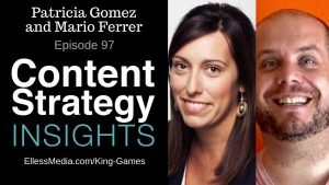podcast cover art for interview with Patricia Gomez and Mario Ferrer of King Games