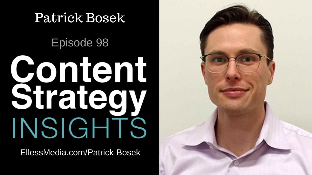 podcast cover art for interview with Patrick Bosek, expert on structured content