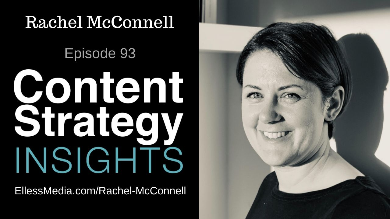 podcast cover art for interview with Rachel McConnell, content operations leadership expert