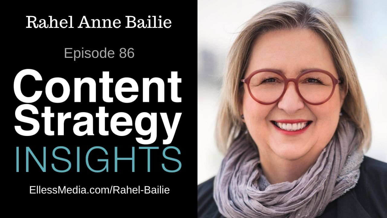 podcast cover art for interview with Rahel Anne Bailie, leading content operations expert