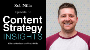 podcast episode cover image of Rob Mills, Head of Content at GatherContent