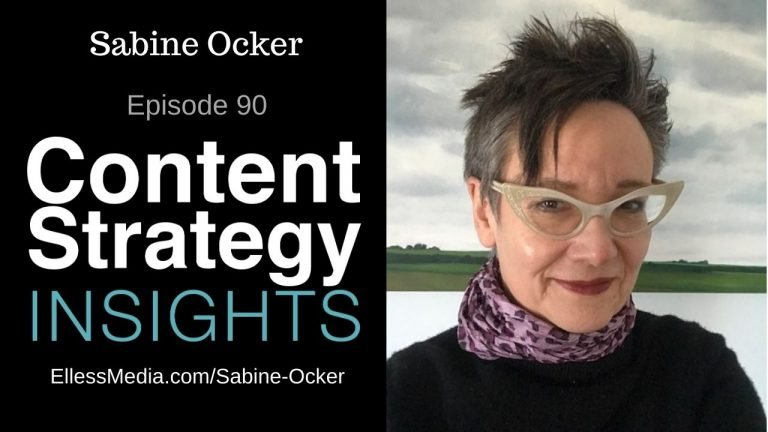 podcast cover art for interview with Sabine Ocker, content taxonomy and ontology expert
