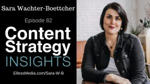 podcast cover art for interview with Sara Wachter-Boettcher, design and content leadership expert