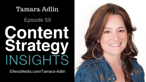 podcast cover art for interview with Tamara Adlin, expert on persona development