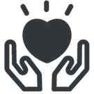 picture of hands and heart to illustrate non-profit business concept