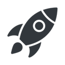 rocket to illustrate startup